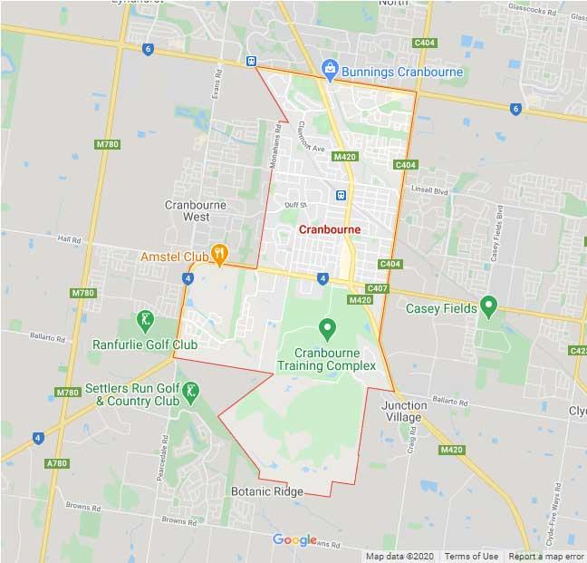 Cranbourne Map Area