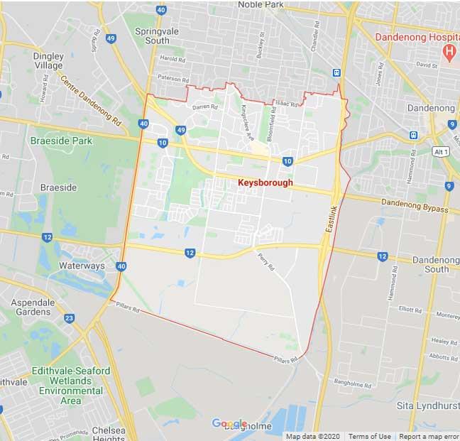 Keysborough Map Area
