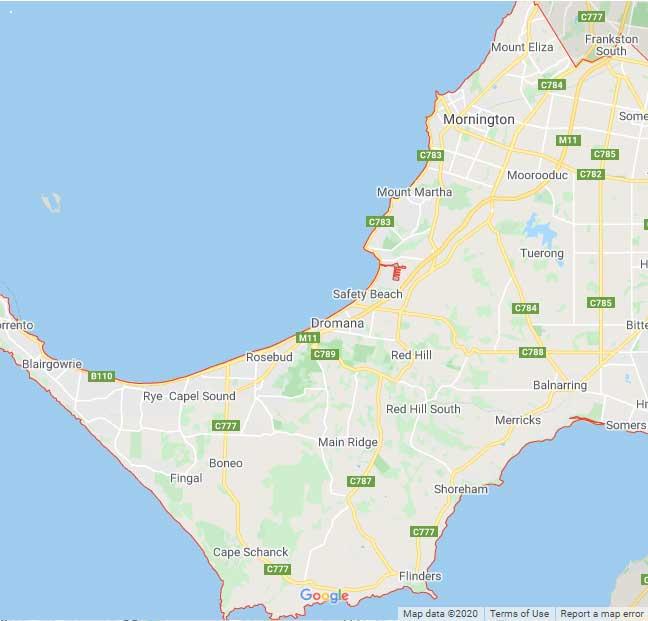 Mornington Peninsula Map Area